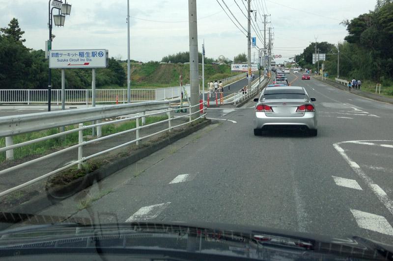 鈴鹿サーキット稲生駅付近から渋滞したが、ほんのわずかの渋滞だった