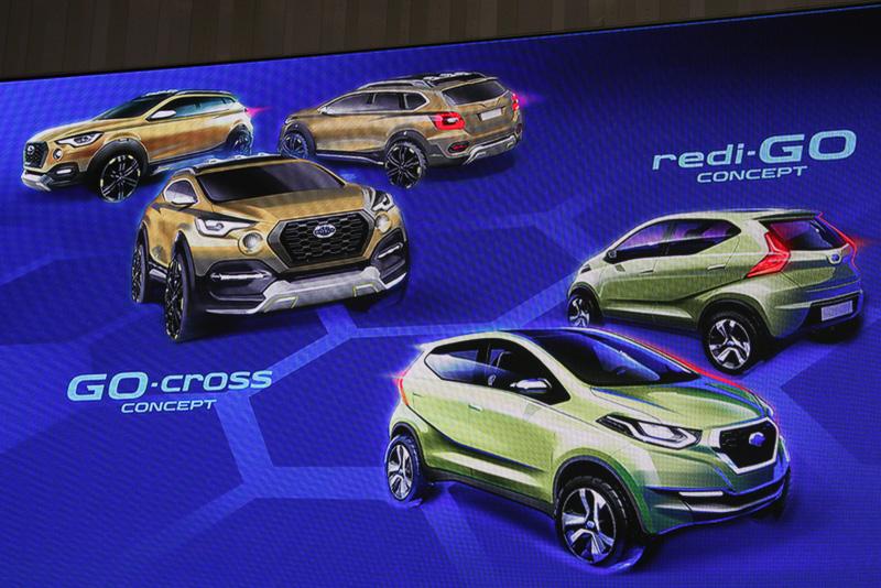 redi-GO コンセプトに続き、GO-cross コンセプトでもクロスオーバーテイストのエクステリアデザインを採用している