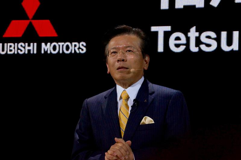 三菱自動車工業 取締役社長の相川哲郎氏