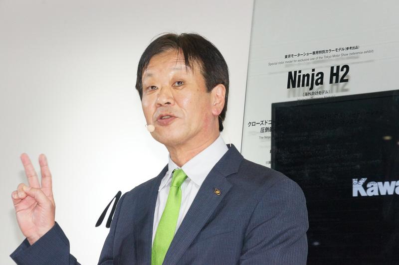 川崎重工業 モーターサイクル&エンジンカンパニープレジデントの富田健司氏