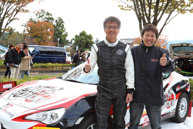 トヨタ「86」開発者の多田哲哉選手は、欧州でのラリー参戦を続ける川名賢選手をコ・ドライバーにE-2クラスに参戦