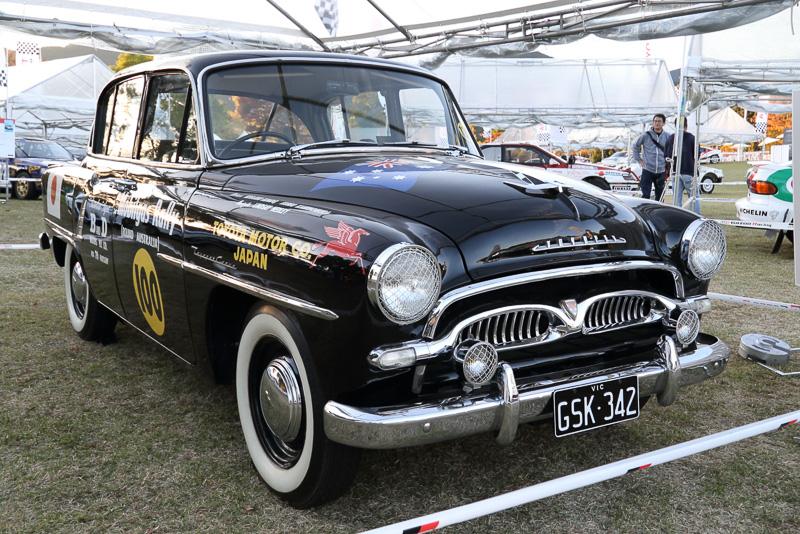 1957年のオーストラリア一周ラリーに参戦したトヨペットクラウン