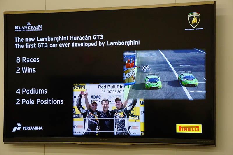 FIA-GT3車両を利用した欧州の選手権であるブランパンシリーズで2勝