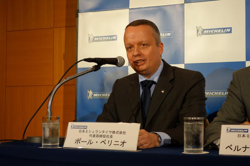 今後の抱負について流暢な日本語で語ったポール・ペリニオ氏