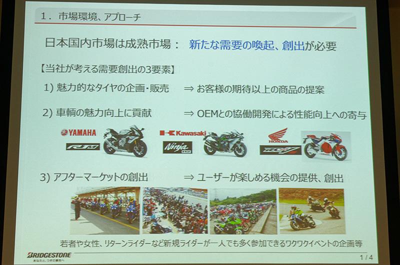 バイクの需要は頭打ちで、それにつられてタイヤ販売も伸び悩んでいる
