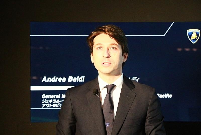 アンドレア・バルディ氏は、ドゥカティ・モーターホールディングス S.p.Aで2010年11月までアジア太平洋地域の営業活動を統括、2010年12月からランボルギーニに加わり、2014年6月からアジア太平洋地区におけるセールス、マーケティングおよびアフターセールス業務全体を統括している