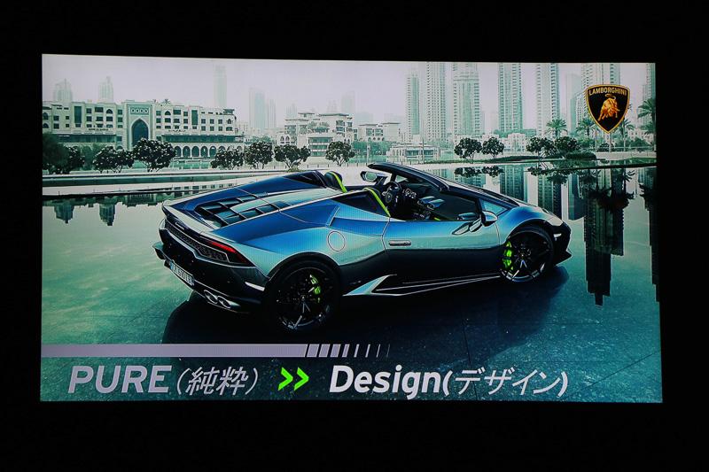 3色から選べるソフトトップ、シート色とトリムなどを組み合わせて3万通りからチョイスして、自分だけのランボルギーニを造れる