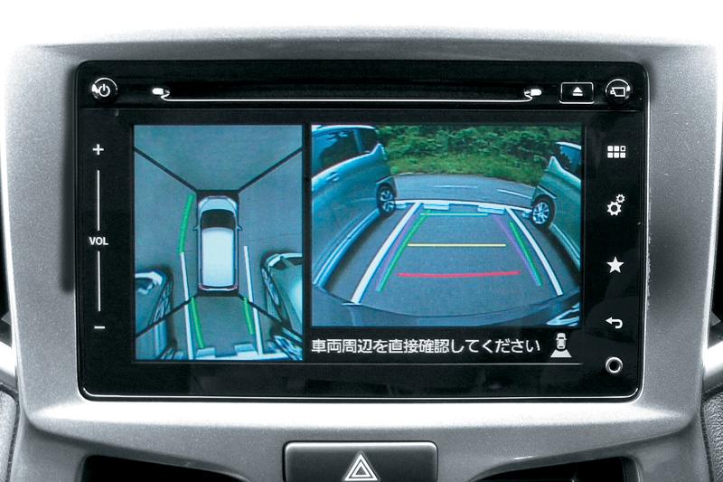 メモリーナビゲーションはカメラ画像を表示する「全方位モニター」の機能も持つ