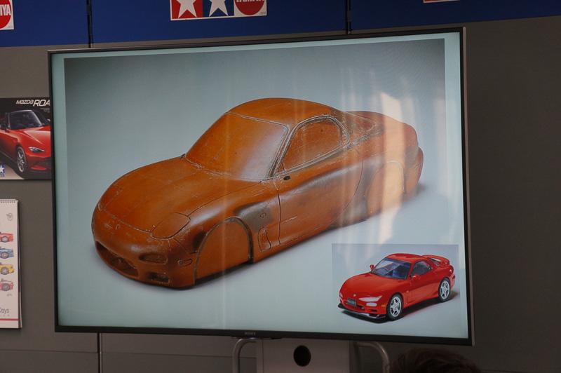 3代目「RX-7」の模型化には、湿気による変形などが少ない樹脂素材に移行している