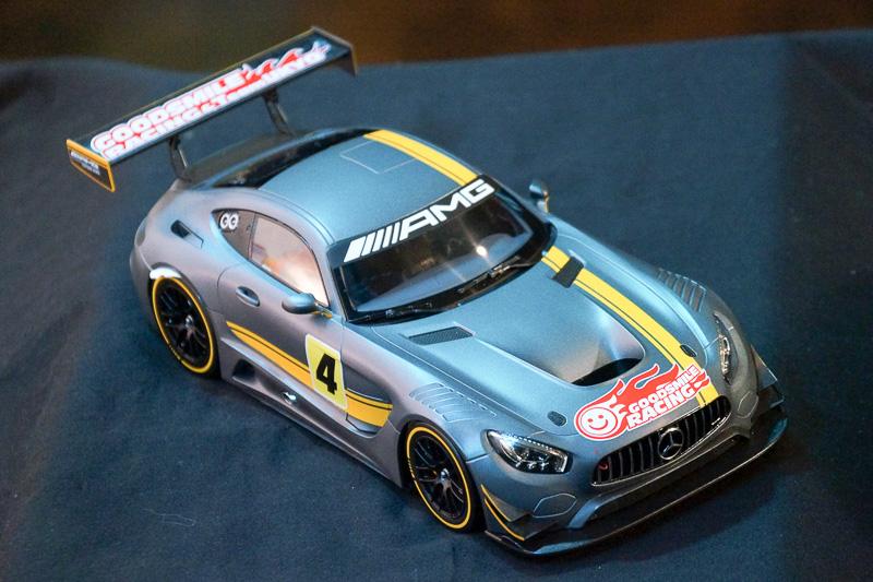 2016年シーズンに投入される「メルセデスAMG GT3」。マシンのカラーリングは2016年2月7日開催のワンダーフェスティバル会場内においてお披露目予定