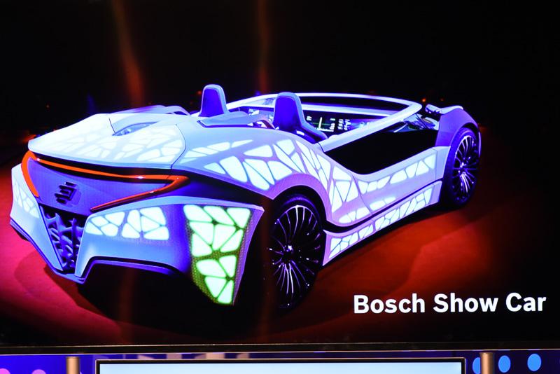 ボッシュがNorth Hallのブースに展示する、ハプティック機能を持つ新開発タッチスクリーン搭載コンセプトカー