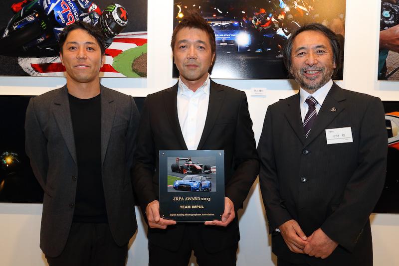 星野一樹選手(写真左)、金子哲也氏(中央)、小林稔JRPA会長(写真右)
