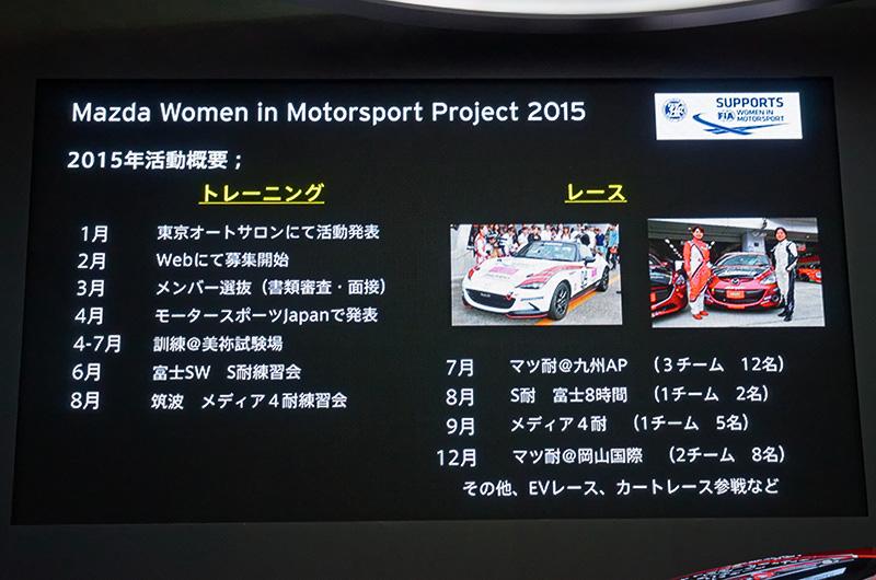 2015年の活動実績