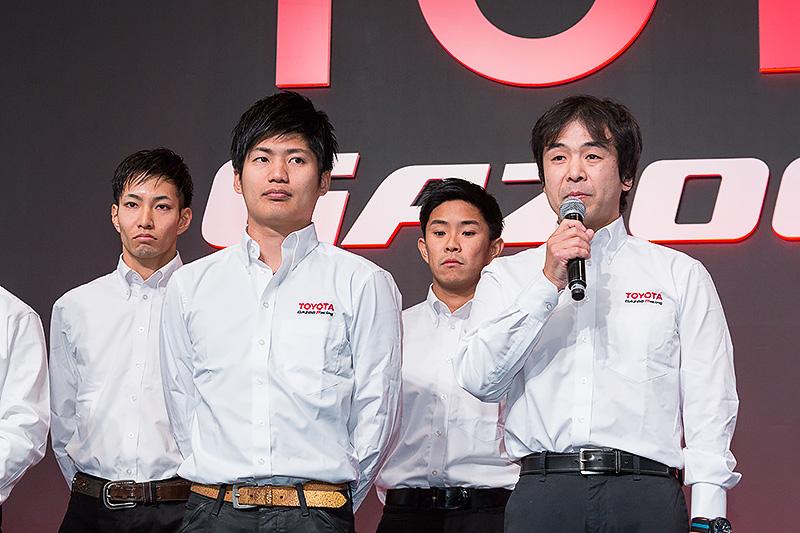 LEXUS RC Fのドライバーは土屋武士選手、大嶋和也選手、井口卓人選手、松井孝允選手