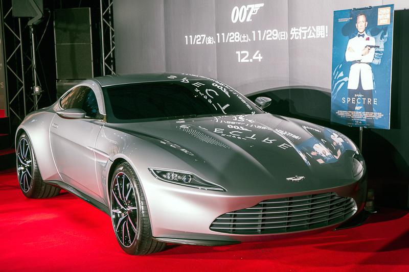アストンマーティン「DB10」(写真は2015年11月に行なわれた「007 スペクター」のPRイベントで撮影したもの)