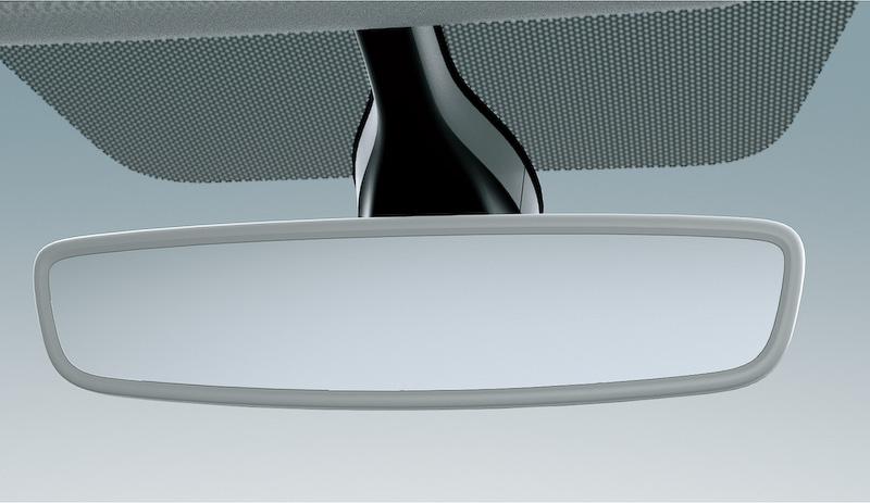 自動的に反射光を軽減する自動防眩ルームミラー