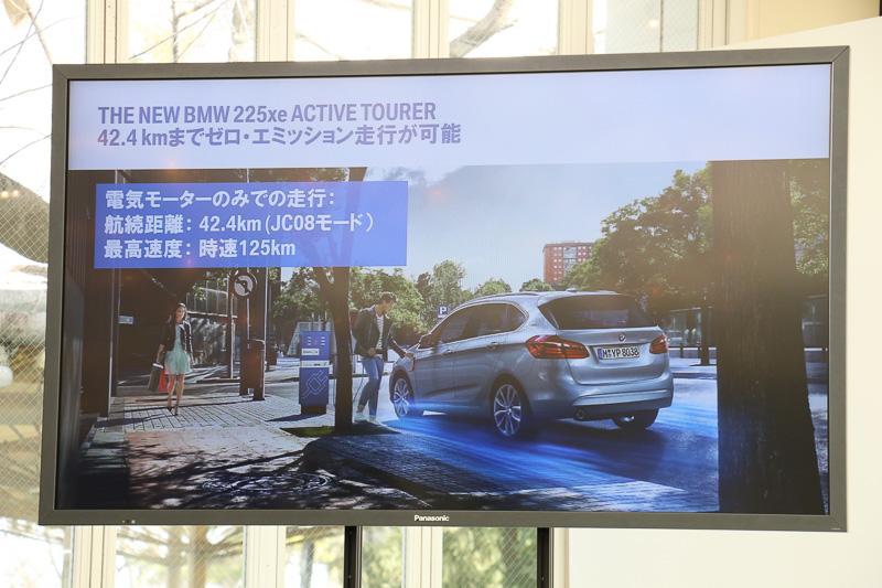 「MAX eDrive」モードでは、エンジンを作動させることなく最高速125km/h、航続距離42.4kmを可能とする
