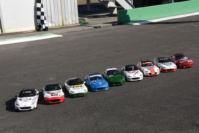 第2回メディア対抗ロードスター耐久レースは計9チームが参戦した