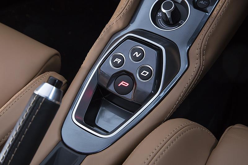 シンプルなデザインのプッシュ式ATセレクターボタン