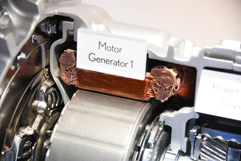 MG1のコイル部。巻き線方式
