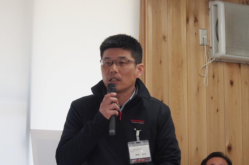 株式会社本田技術研究所 汎用R&Dセンターの神原史吉氏。「プチな」「こまめ」「サ・ラ・ダ」の開発責任者