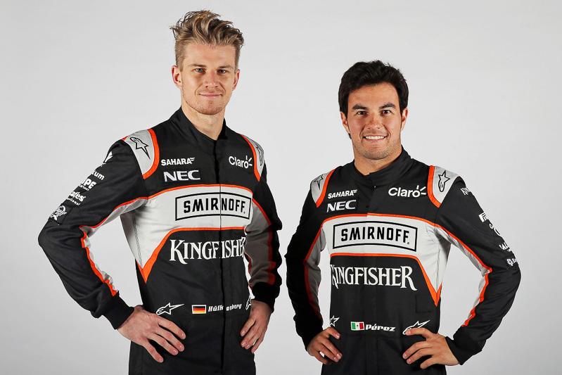 「Sahara Force India」からF1に出走するのは、今年もニコ・ヒュルケンベルグ選手(左)とセルジオ・ペレス選手(右)の2人