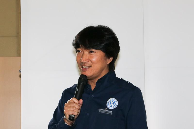 フォルクスワーゲン アカデミーでトレーナーを務める金子陽一氏