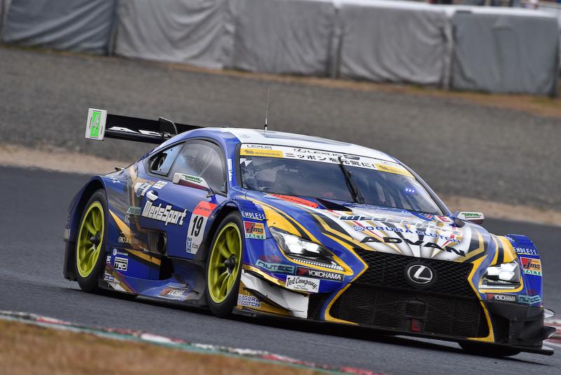 岡山テストに登場したレクサスのGT500車両