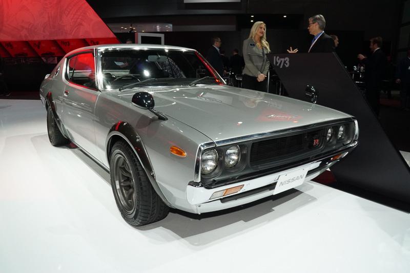 会場には歴代GT-Rが展示された