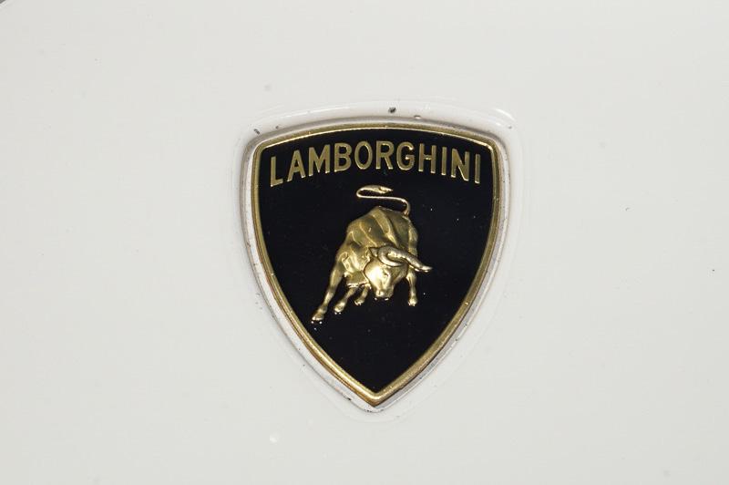 フロントカウルに輝くランボルギーニのロゴ