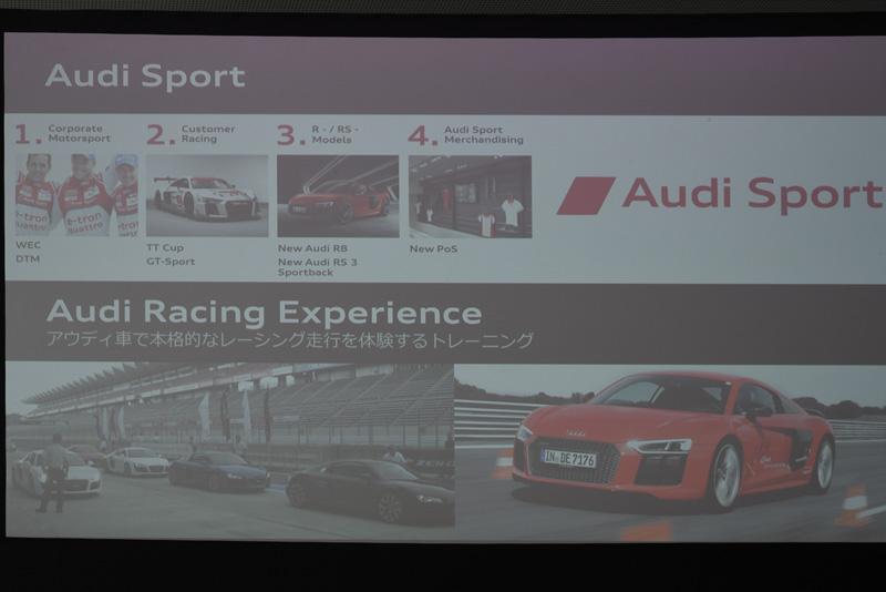 Audi Sportも訴求
