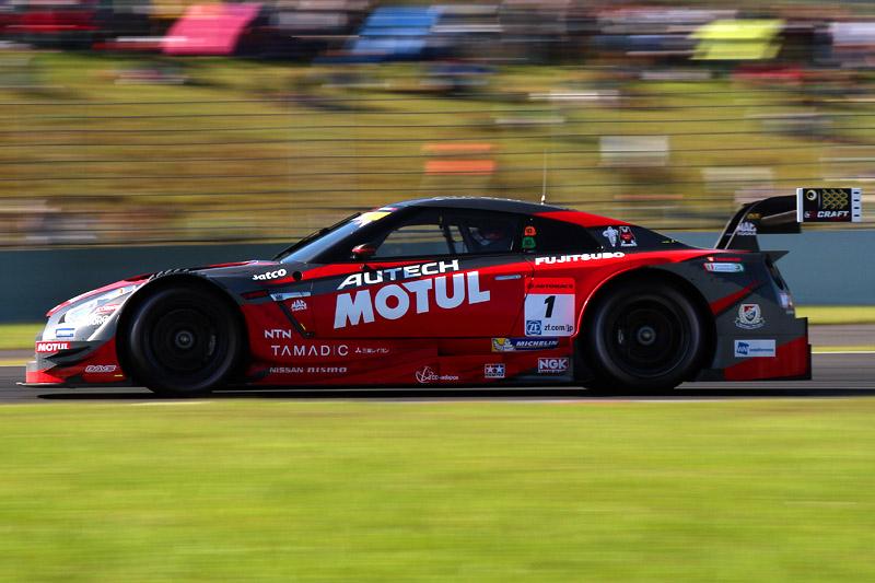 第1戦岡山に続き、第2戦富士も制した1号車 MOTUL AUTECH GT-R(松田次生/ロニー・クインタレッリ組)