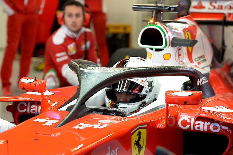フェラーリの「ヘイロー(Halo)」装着車両