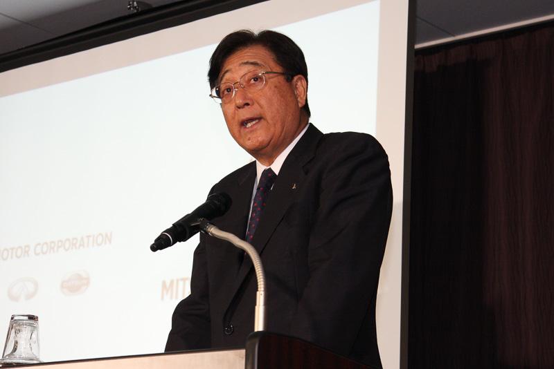 三菱自動車工業株式会社 取締役会長兼CEO 益子修氏