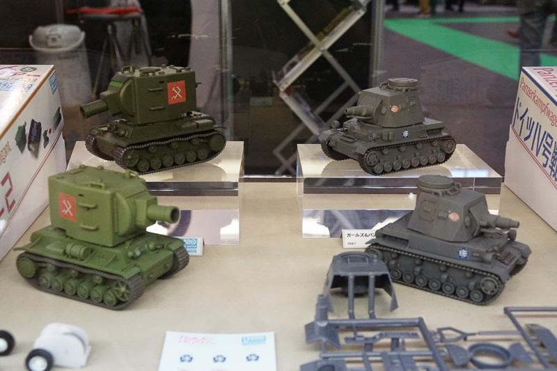「ガールズ&パンツァー」に登場する戦車のプラモデル