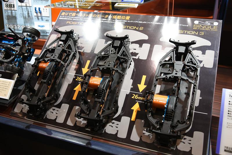 モーター搭載位置は3カ所から選択できる