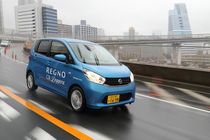 試乗車として用意された日産自動車「デイズ」には155/65 R14サイズを装着(空気圧:240kPa)