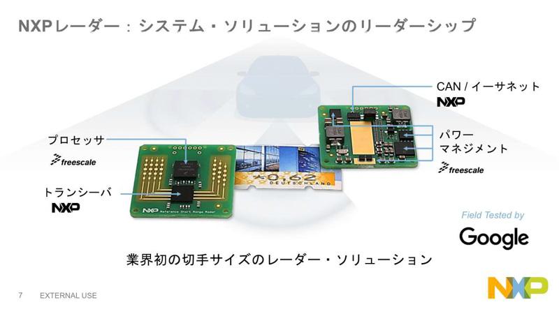 レーダー製品には旧フリースケールとNXP両方の製品が使われている