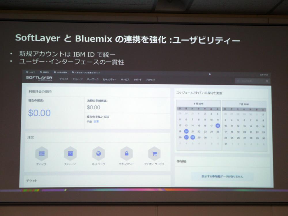 SoftLayerとBluemixの連携を強化する