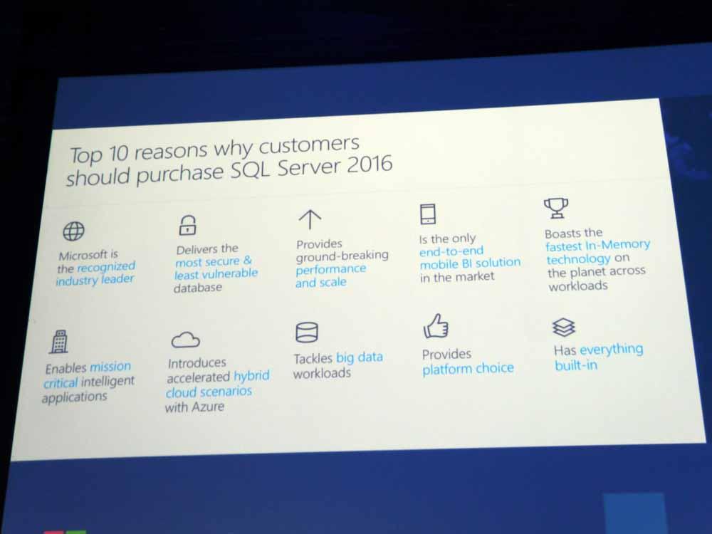 SQL Server 2016の10の特徴