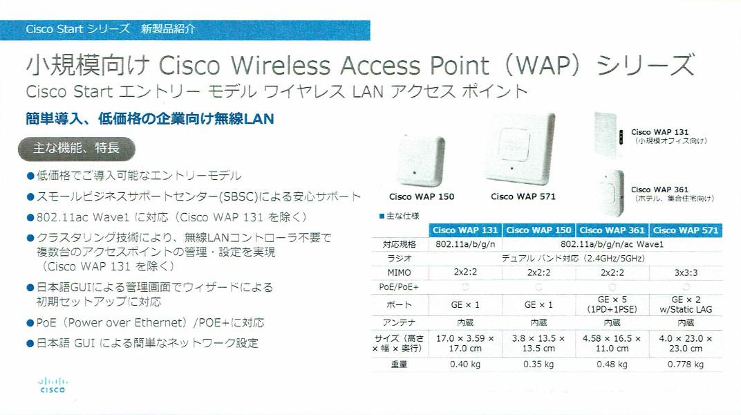 Cisco Wireless Access Pointシリーズ