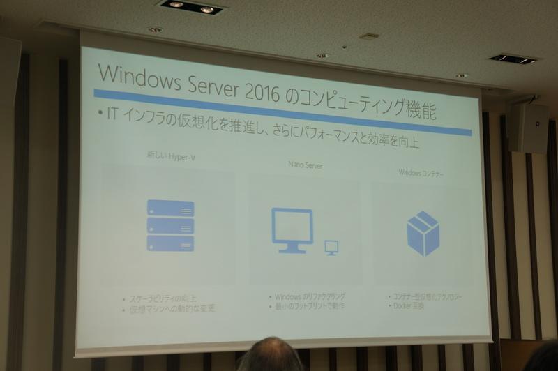 SDIのコンピューティングとしてのWindows Server 2016の機能