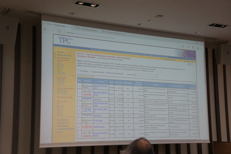 TPCのベンチマーク。SQL Serverが上位に