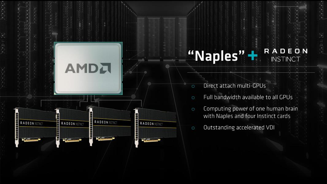 GPUをフル帯域で4ボード直に接続可能なNaples