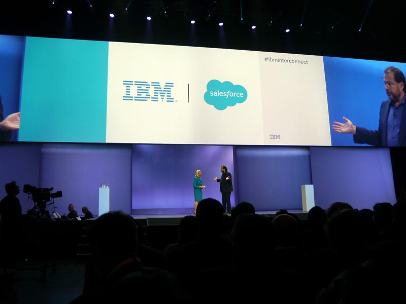 IBMとSalesforce.comの提携をあらためて発表した