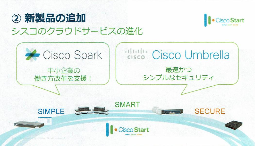「Cisco Spark」と「Cisco TelePresence」を組み合わせて「中小企業働き方改革パッケージ」として提供