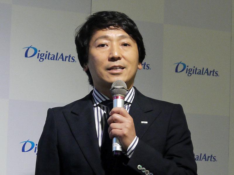 デジタルアーツ 代表取締役社長の道具登志夫氏