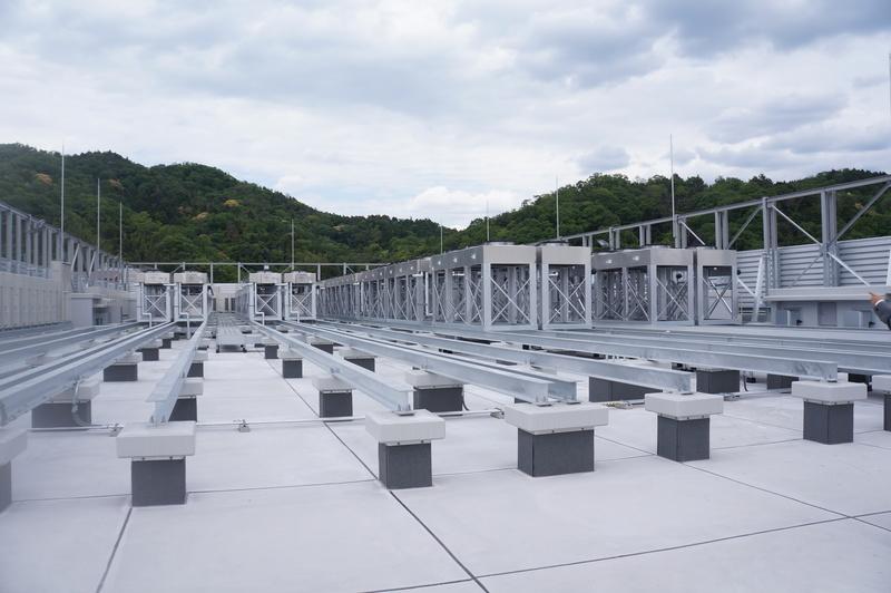 屋上の熱交換器