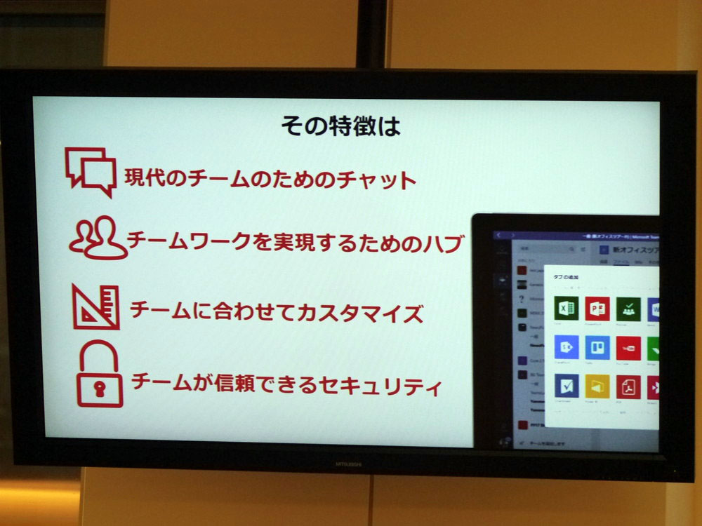 Microsoft Teamsは4つの特徴を持つ