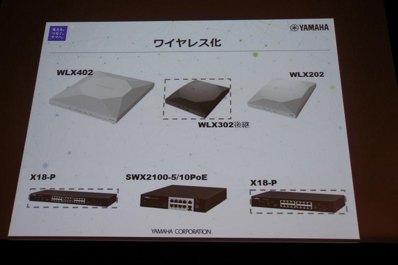 無線LANアクセスポイント製品。WLX302の後継機種も発売予定